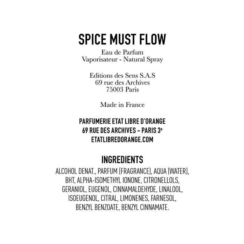 Spice Must Flow Eau De Parfume 100ml